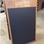 Plain a-board with high-quality chalkboard