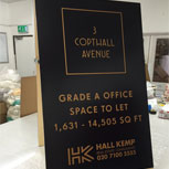 A1 Headed Standard Wooden A-Board promoting property to let