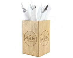 Wooden Cutlery Cube CH03