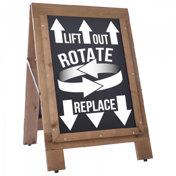 Reversible Wooden A-Boards - (with chalkboard Inserts)