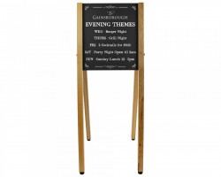 Skyward Wooden A-Board-Solid Oak Legs