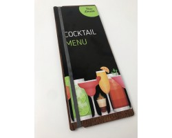 Tall A4 Elastic Band Menu Boards