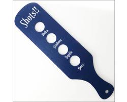 Wooden Shot Paddle - Blue Finish