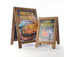 Rustic Reversible Printed Wooden A-Boards