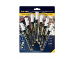 Securit® Small Chalk marker / Chalk Pens: Pack of 7
