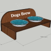 Raised Wooden Dog Bowl Holder