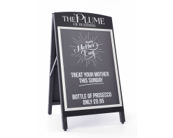 Premium Black Wooden A-Boards
