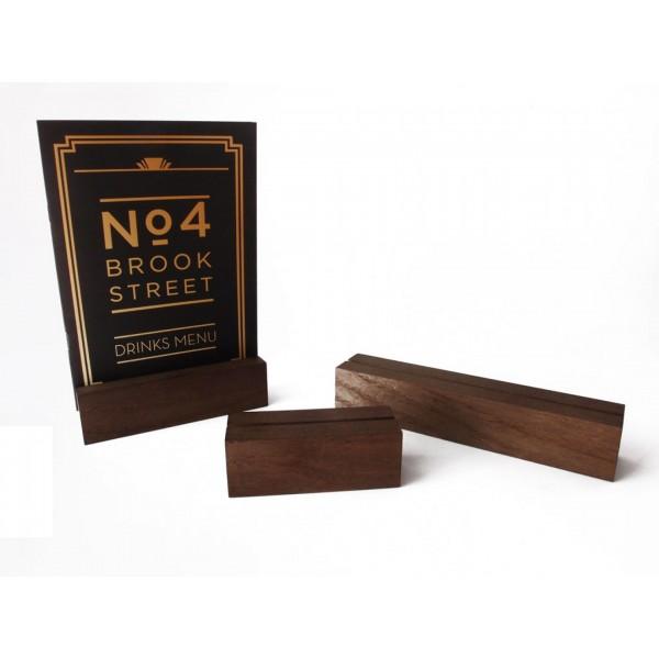 Menu Holder - Wooden Card Holder