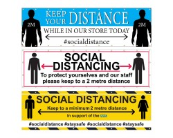 Social Distancing Banners