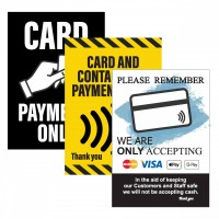 Contactless card payment signs