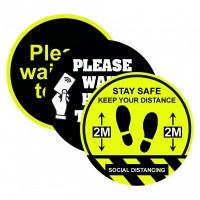 Social distancing floor vinyl sticker