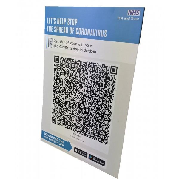 Strut Card for NHS QR Codes