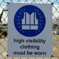 High viz clothing sign