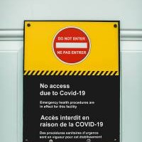 COVID Do not enter sign (multi-lingual)