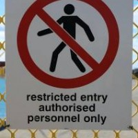 Restricted entry sign