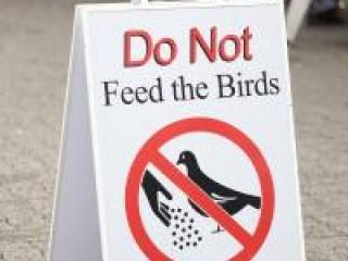 ′Do not...′ signage