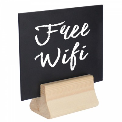 Square chalkboard with wifi message
