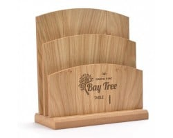 Tiered Wooden Menu Holder MH1