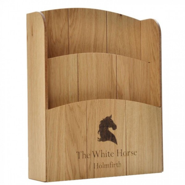 Box Tiered Wooden Menu Holder MH7