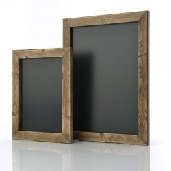Distressed wooden poster frames
