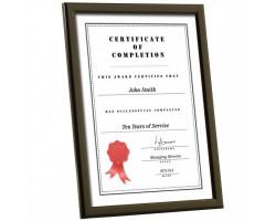 Black A4 Certificate Frames