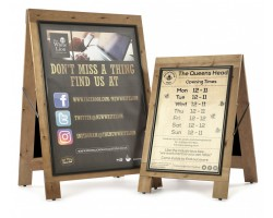 Rustic Snap Frame Wooden A-Boards