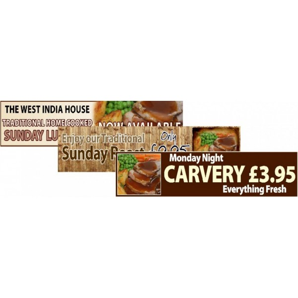 Food Promotion - Roast & Carvery Banners