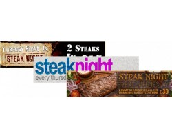 Food Promotion - Steak Night Banners