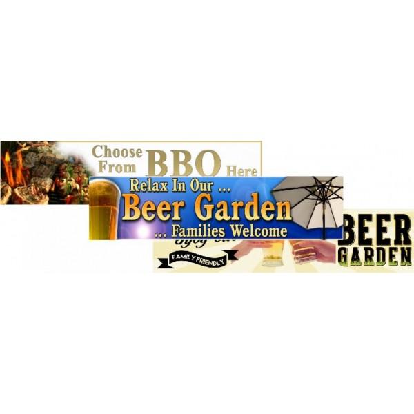 BBQ & BEER GARDEN BANNERS