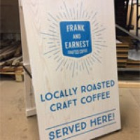 Coffee board for Frank and Earnest