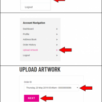 Infographic about how to upload artwork