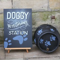 Doggie watering station by Majisign